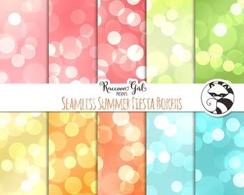 Seamless Summer Fiesta Bokeh Digital Papers