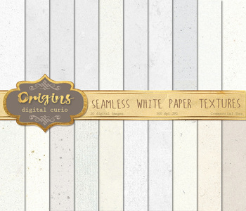 Seamless Tileable White Paper Textures, Digital Paper Backgrounds