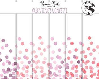 Seamless Valentines Confetti Digital Paper Set