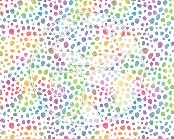 Seamless Watercolor Animal Prints in Bright Rainbow Colors Digital Paper Set