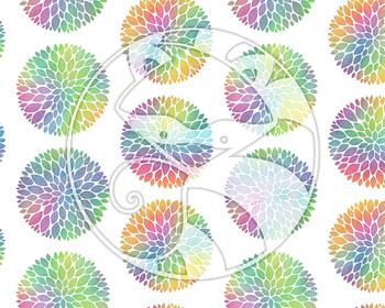 Seamless Watercolor Pattern Set #2 in Bright Rainbow Colors Digital Paper Set