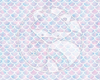 Seamless Watercolor Pattern Set #2 in Cotton Candy Colors