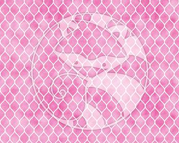Seamless Watercolor Patterns #2 in Bubblegum Colors Digital Paper Set