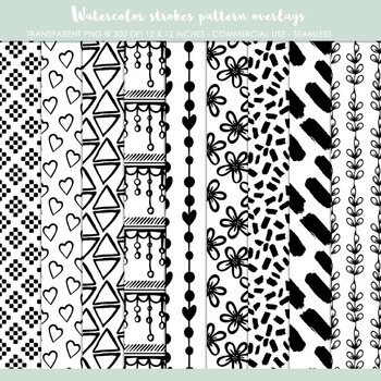 Seamless patterns, paper templates, PNG templates