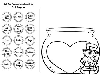 Sean Sean the Leprechaun's Pot O' Categories FREEBIE!!