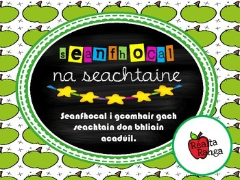 Seanfhocal na Seachtaine (as Gaeilge) // Proverb of the We