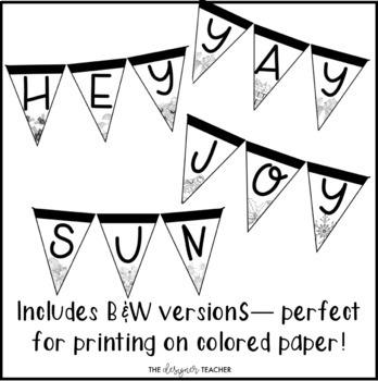 Seasonal Banners Letter Pennants BUNDLE {Build Your Own}