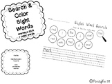 Search,Color, and Write Sight Word Work