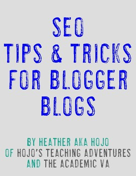 Search Engine Optimization for Blogger Blogs