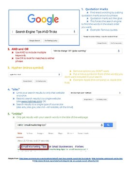Search Engine Tips and Tricks