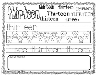 Search & Find TEEN Number Words {11-20}