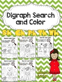 Search and Color Digraphs