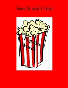 Search and Color Popcorn Words