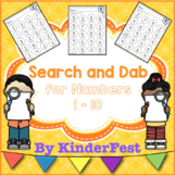 Search and Dab for Numbers 1 - 10 FREEBIE!