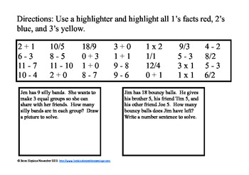 Search and Find (Highlight) Math Facts