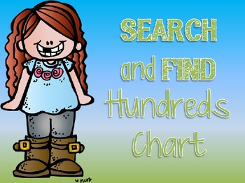 Search and Find Hundreds Chart - 100th Day Of School
