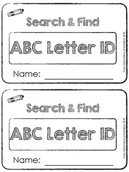 Search and Find Letter Recognition and Identification