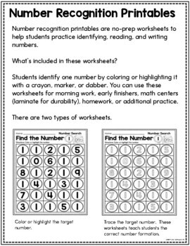 Search and Find Numbers 1 to 20