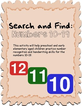 Search and Find: Numbers 10-19