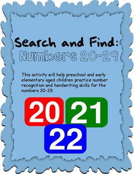 Search and Find: Numbers 20-29