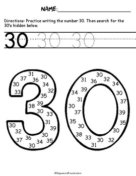 Search and Find: Numbers 30-39