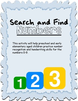 Search and Find: Numbers 0-9