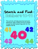 Search and Find: Numbers 40-49