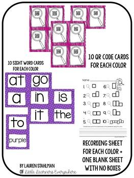 Sight Words QR Code Write the Room Bundle