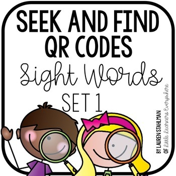 Sight Words QR Code Write the Room Set 1