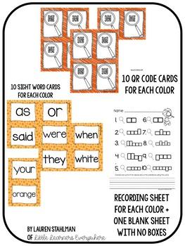 Sight Words QR Code Write the Room Set 2
