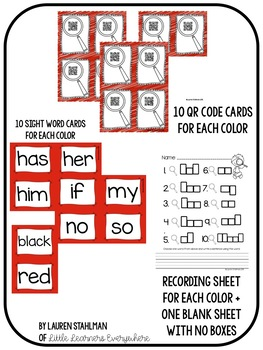 Sight Words QR Code Write the Room Set 2