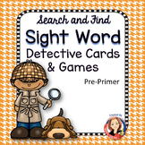 Sight Word Cards and Games  Pre-primer Words