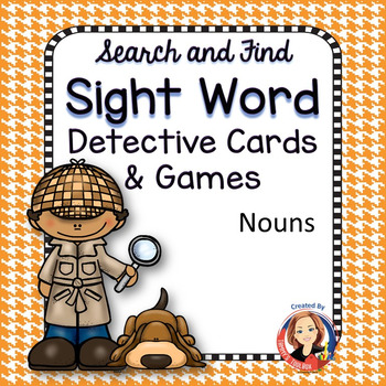 Sight Word Games and Cards with Nouns