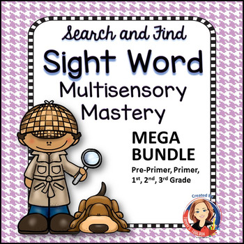 Search and Find Sight Words Multisensory Mastery Mega Bundle