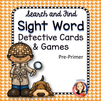 Search and Find Sight Words Multisensory Mastery Pre-Primer Bundle