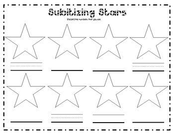 Search and Find - Subitizing Stars