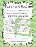 Search and Rescue: Adding and Subtracting Decimals Word Problems for Fifth Grade