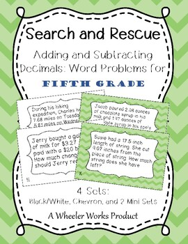 Search and Rescue: Adding and Subtracting Decimals Word Pr