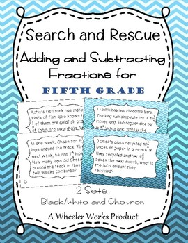 5th Grade Search and Rescue: Adding and Subtracting Fractions and Mixed Numbers