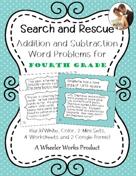 Search and Rescue: Addition and Subtraction Word Problems