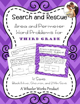 Search and Rescue Area and Perimeter Black and White/Gray Chevron