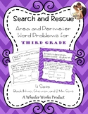 Search and Rescue: Area and Perimeter Word Problems for Third Grade