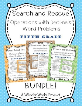 Search and Rescue Bundle: Operations with Decimals for Fifth Grade
