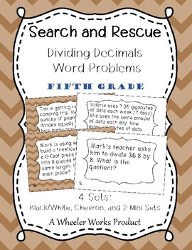 Search and Rescue: Dividing Decimals Word Problems for Fif