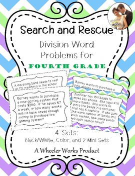Search and Rescue: Division Word Problems (4.NBT.B.6 and 4