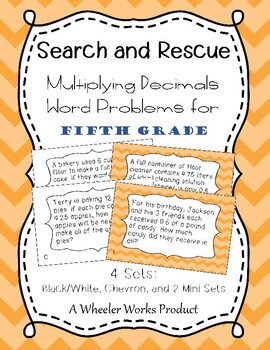 Search and Rescue: Multiplying Decimals Word Problems for Fifth Grade