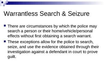 Search and Seizure: Lesson
