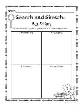 Search and Sketch- Nature Scavenger Hunt FREEBIE
