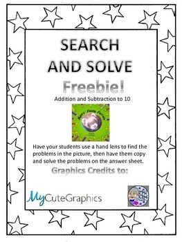 Search and Solve Freebie!