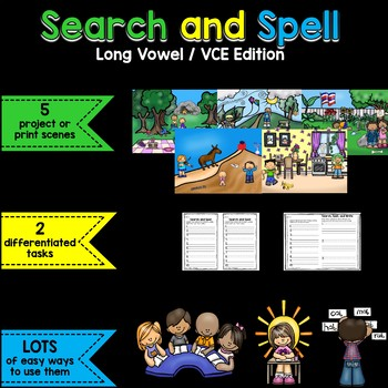 Search and Spell: Long Vowel/VCE Edition